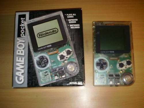 Clear Game Boy Pocket (I always found it deeply unfair the