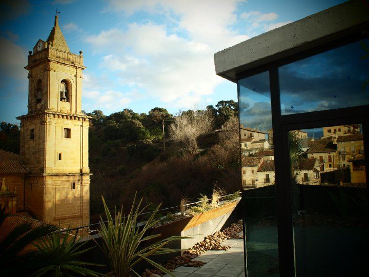 Views To The San Andres Church Viura Hotel In Rioja Spain