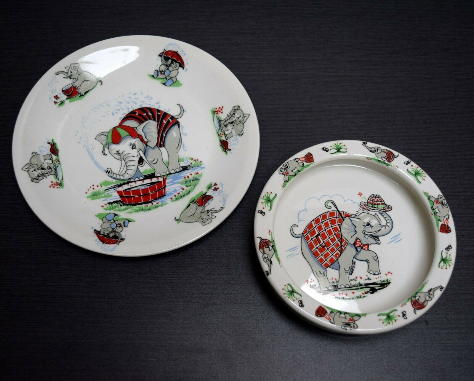 Figgjo Flint Norway Childrens Bowl Plate Set Elephant Juvenile Nursery Dishes Ebay Circus Plates And Bowls Plates Plate Sets