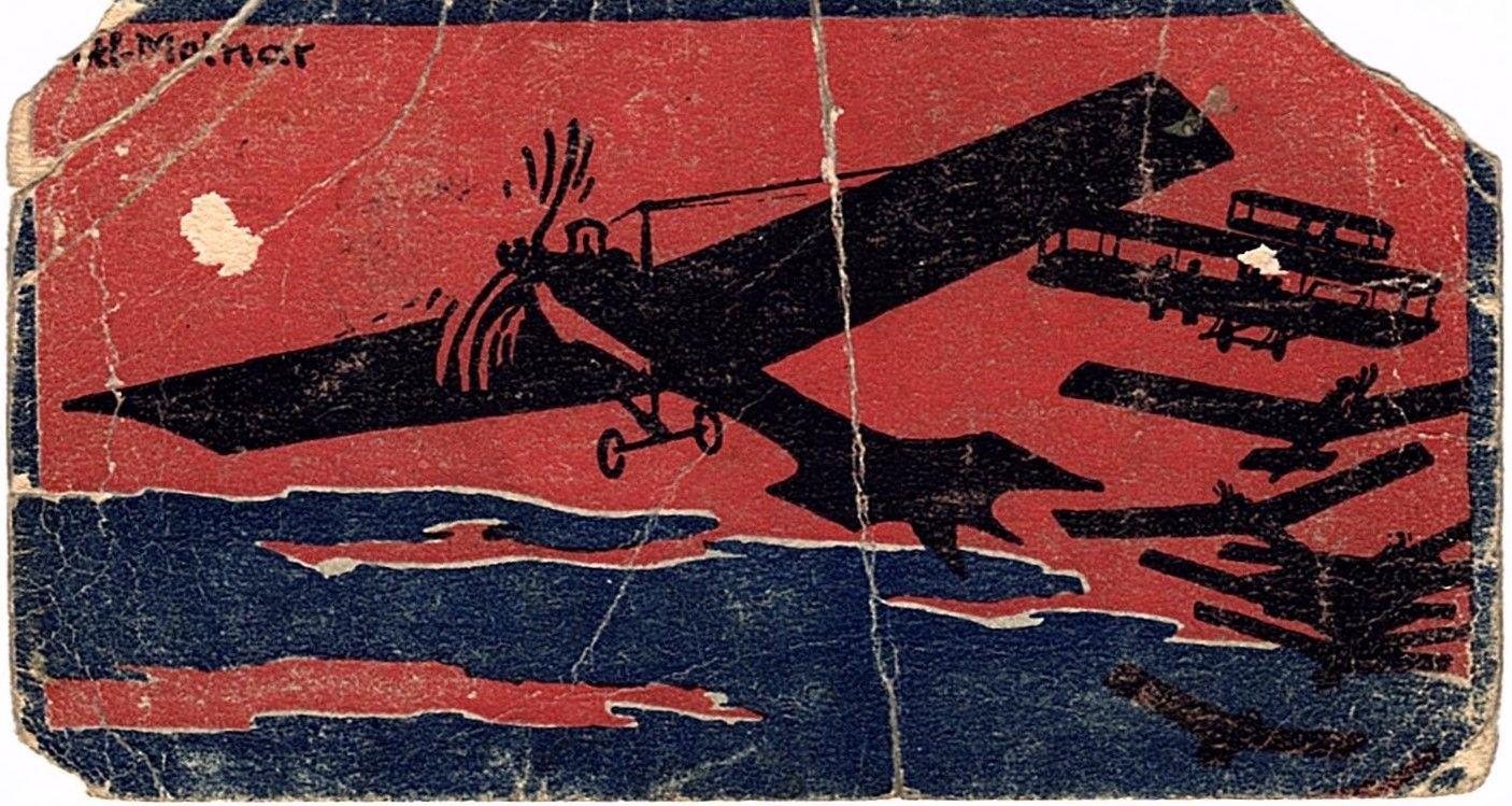 Dauerkarte für das Flugübungsfeld Teltow 1910 (Vorderseite)
