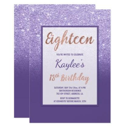 faux purple glitter elegant chic 18th