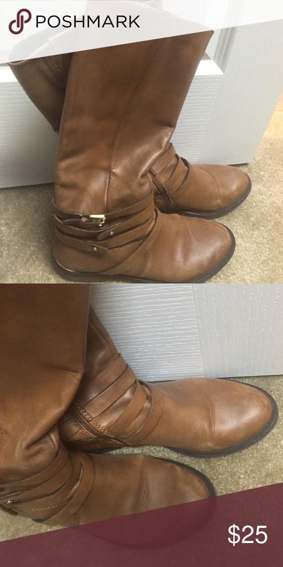 Steven Madden riding boots - brown Steve Madden riding boots. Very comfortable. Steve Madden Shoes