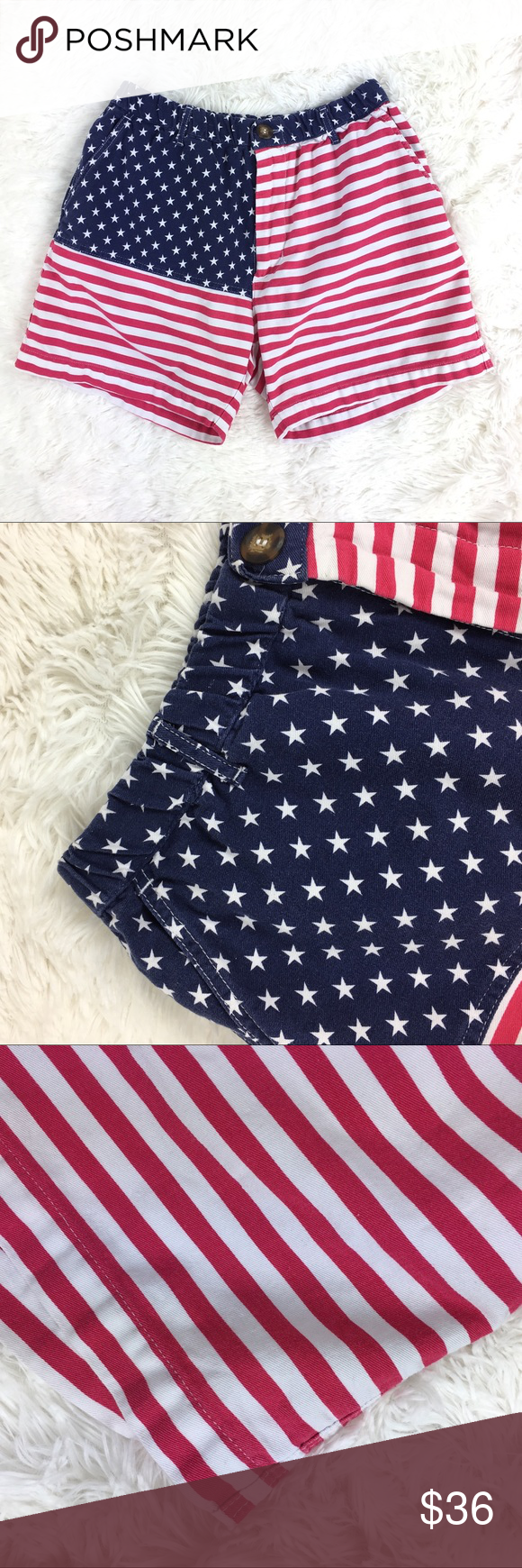 Chubbies American Flag Shorts Chubbies Made In Usa American Flag Casual Shorts Gently Used Front Pockets American Flag Shorts Clothes Design Chubbies Shorts