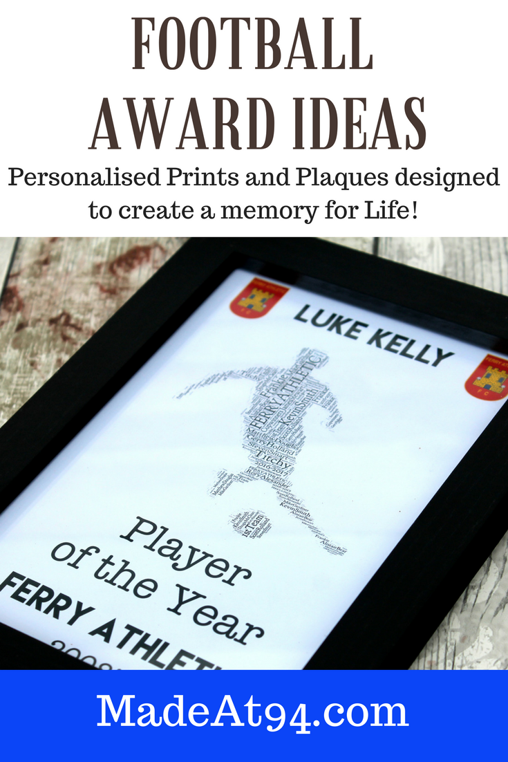 football award ideas for kids and young footballers. football award