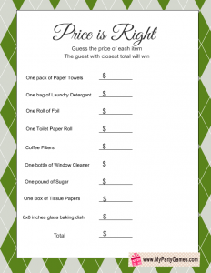 photo regarding Free Printable Party Games named Absolutely free Printable Charge is Straight Recreation for Housewarming Social gathering