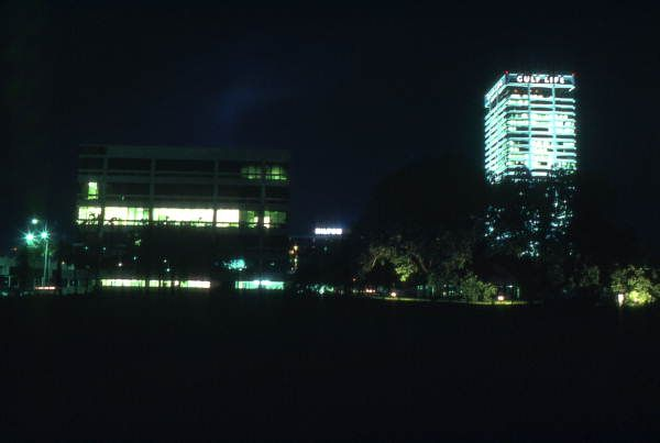 Nighttime View Showing The Gulf Life Insurance Company Building In Jacksonville Florida 1976 Life Insurance Companies Jacksonville Florida