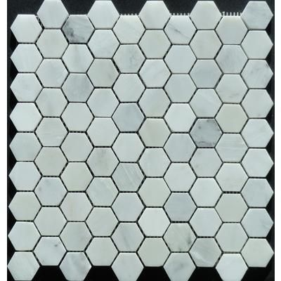 Novecento 1 1 4x1 1 4 Novecento White Hexagon Mosaic Ds7111hexmshd1l Home Depot Canada 14 97 Hexagonal Mosaic Mosaic House Hexagon Mosaic Tile
