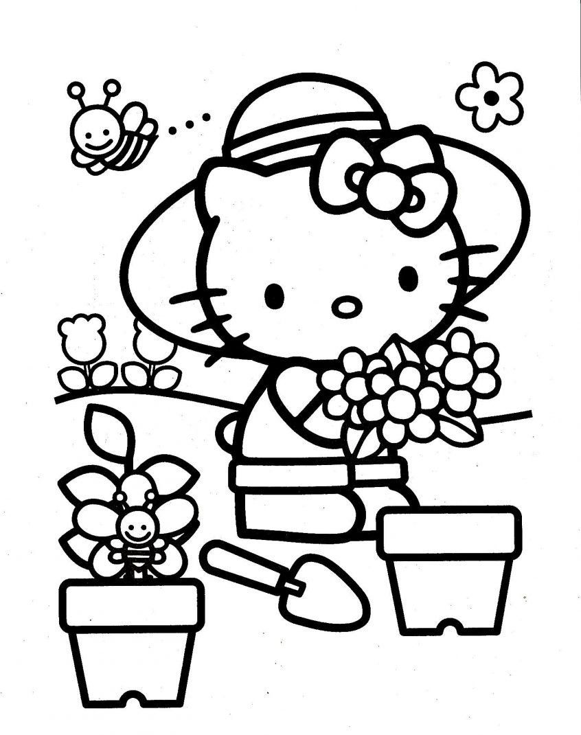 Hello Kitty Coloring Pages Free Printable Coloring Hello Kitty Coloring Page Colouring Pa Hello Kitty Para Colorear Dibujos De Hello Kitty Libros Para Colorear