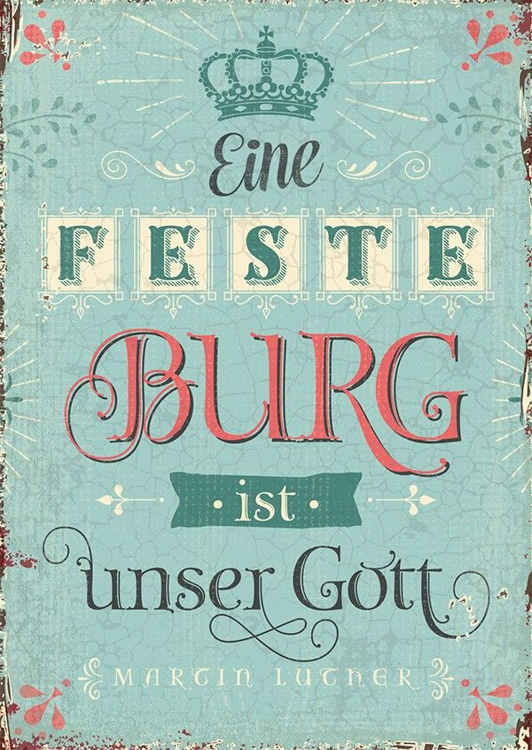 Postkarte - Feste Burg   Bibel Verse auf Deutsch ...