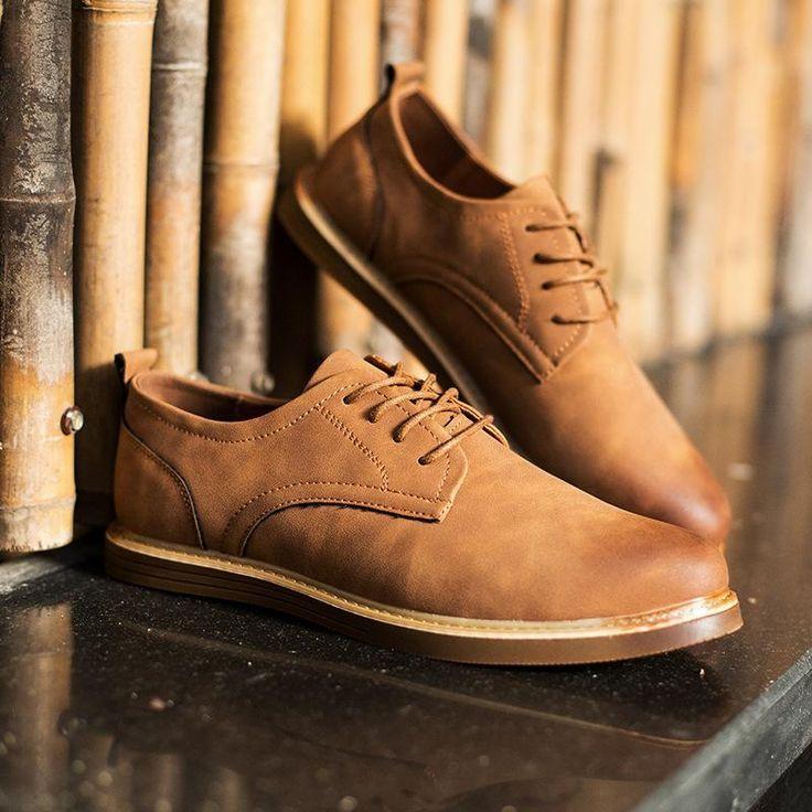 Merkmak Men Oxfords Leather Shoes Brand Designer Men Casual Shoes Spring Autumn Fashion New C Merkmak Men Oxfords Leather Shoes Brand Designer Men Casual Shoes Spring Aut...