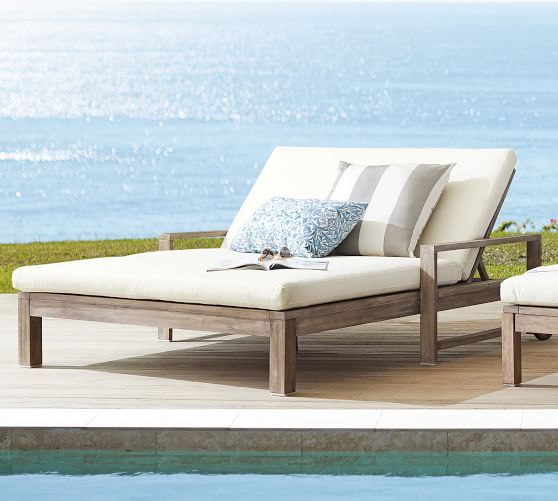Indio Double Outdoor Chaise Lounge Pottery Barn
