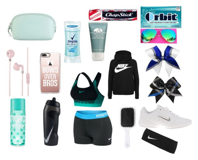 """""""Untitled #145"""" by alexishaven on Polyvore featuring NIKE, Beachwaver Co., Chapstick, Origins, Degree, Casetify, Urbanears and Hadaki"""