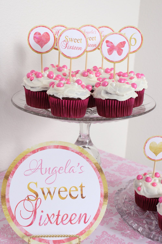 SweetSixteen Cake Topper, Sweet 16 Cake Topper, Cake