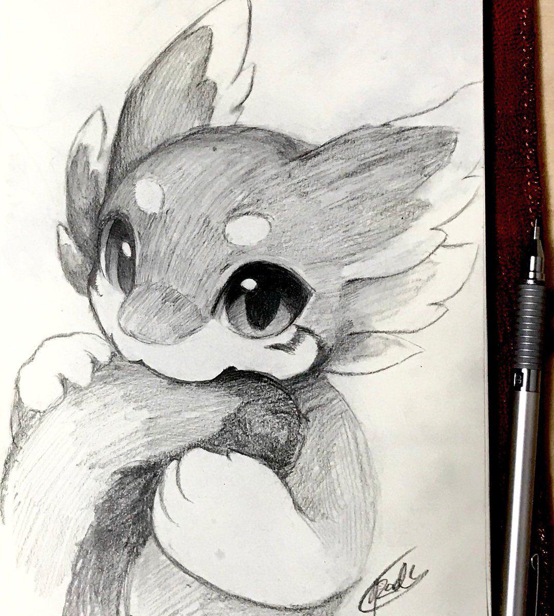 милые картинки рисовать простым карандашом помощью небольшого переходника