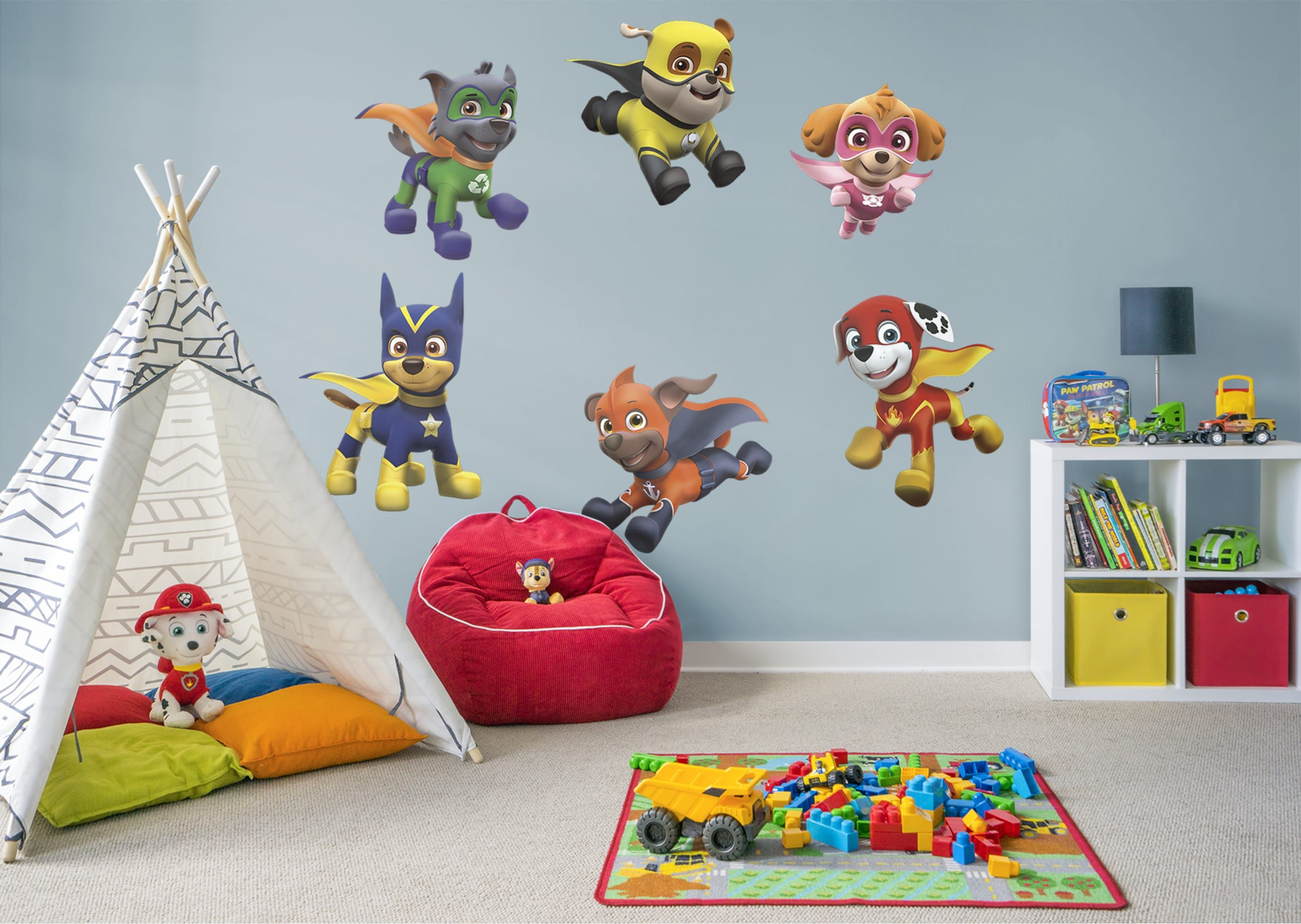 Paw Patrol Fan Prove It Put Your Passion On Display With A Giant Paw Patrol Super Pups Collection Fathe Paw Patrol Room Paw Patrol Bedroom Kid Bathroom Decor