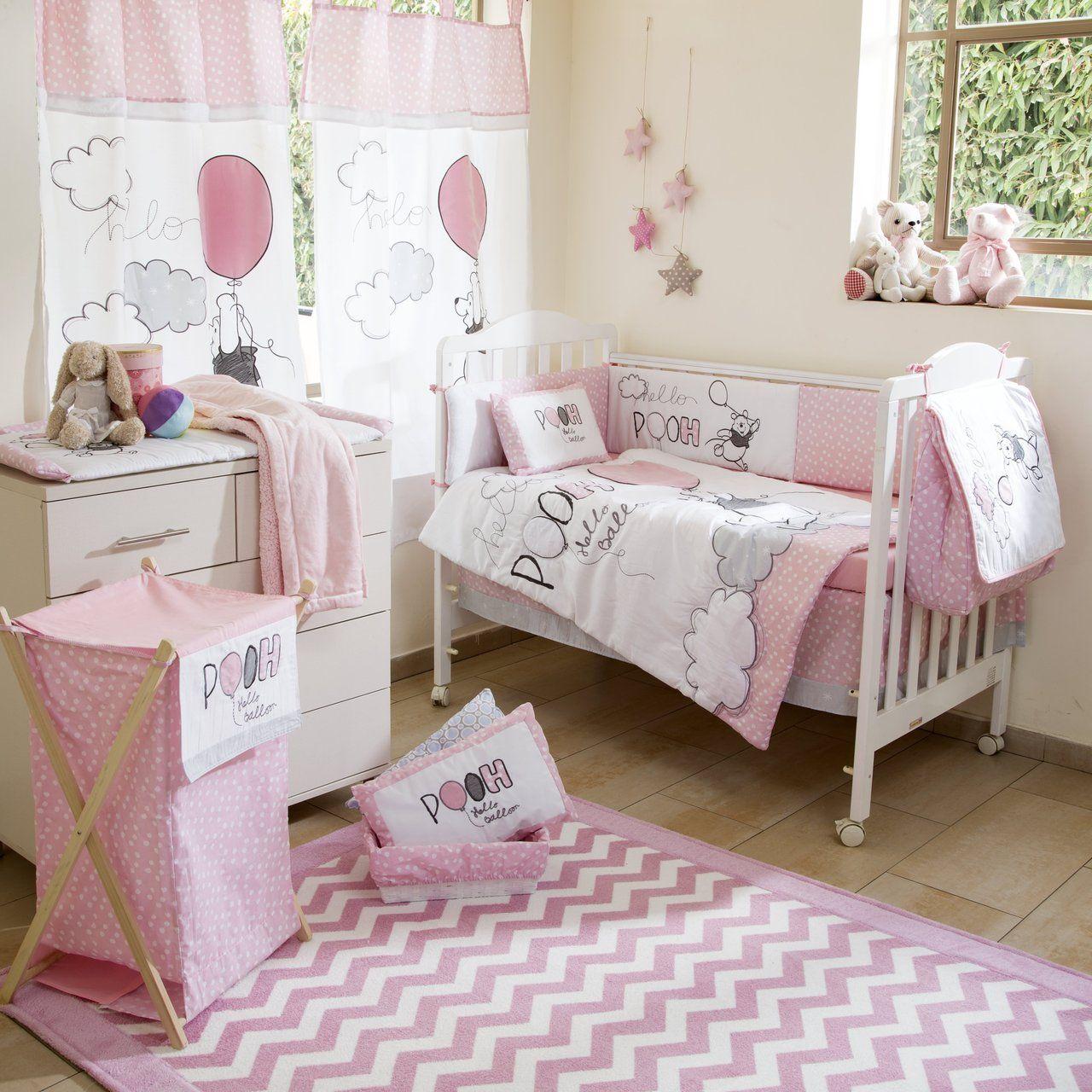 Disney Pink Winnie The Pooh Play Crib Bedding Set Baby Bed Baby