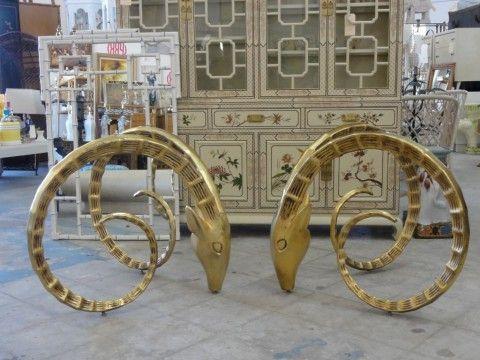 Vintage Ibex Rams Head Dining Table
