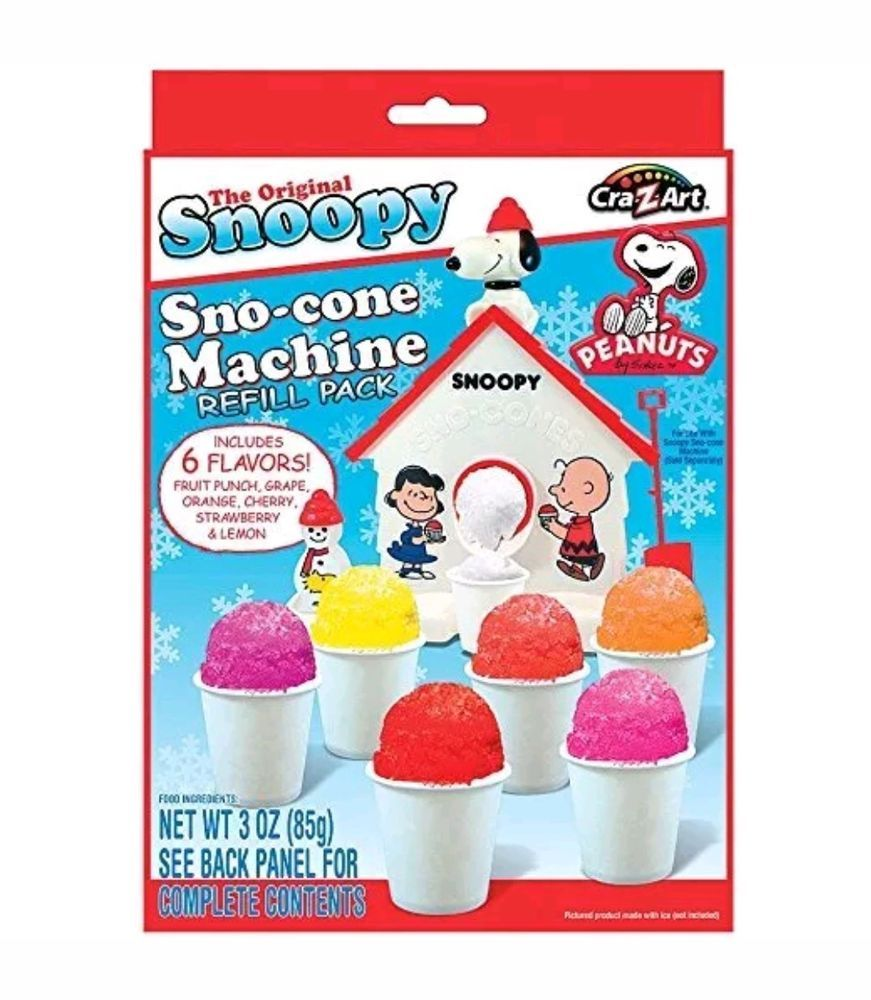 Snoopy Snow Cone Maker Refill 3 oz, 2 Pack
