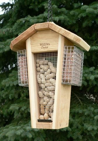 Woodpecker Peanut Feeder With Stainless Suets Bird House Feeder Homemade Bird Feeders Bird Houses