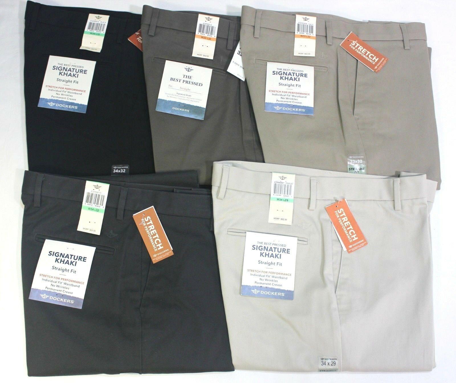 Men/'s Dockers Best Pressed Khaki Dress Pants