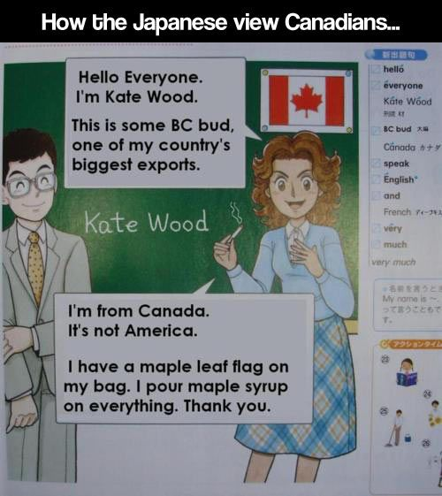Canadians According To Japan Japan Funny Japanese Funny Japanese Memes