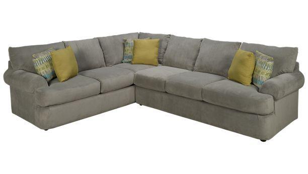 Klaussner Home Furnishings-Cora-Cora 2 Piece Sectional - Jordan\'s ...