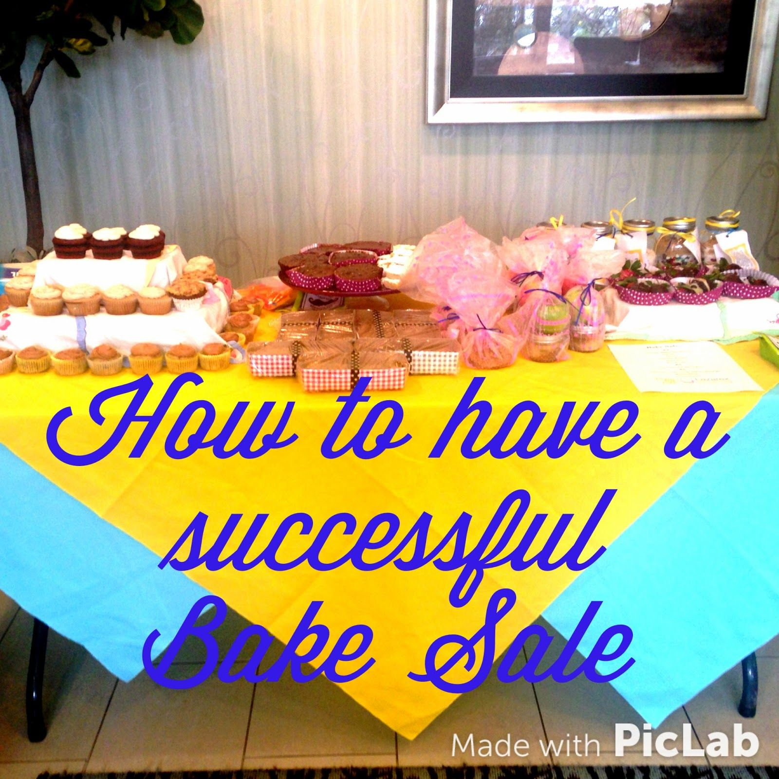 Tips, tricks, and recipes for a successful bake sale! #bakesaleideas