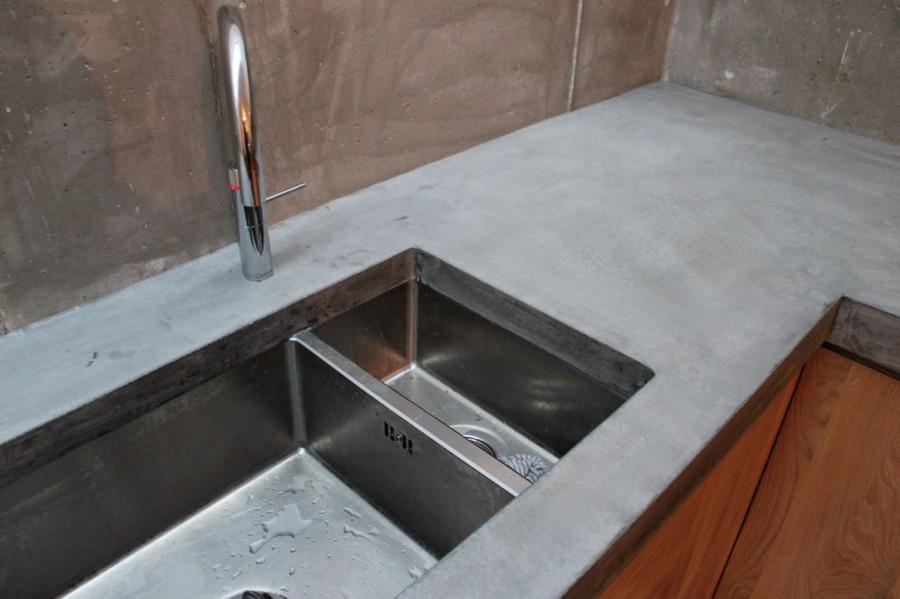 Ikea Koak Keuken : Koak design keuken met betonnen aanrecht blad ikea kastjes en