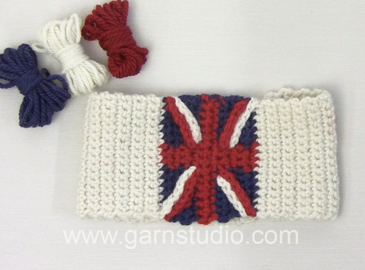 DROPS Crochet Tutorial: How to crochet: decorative stripes to «Union ...