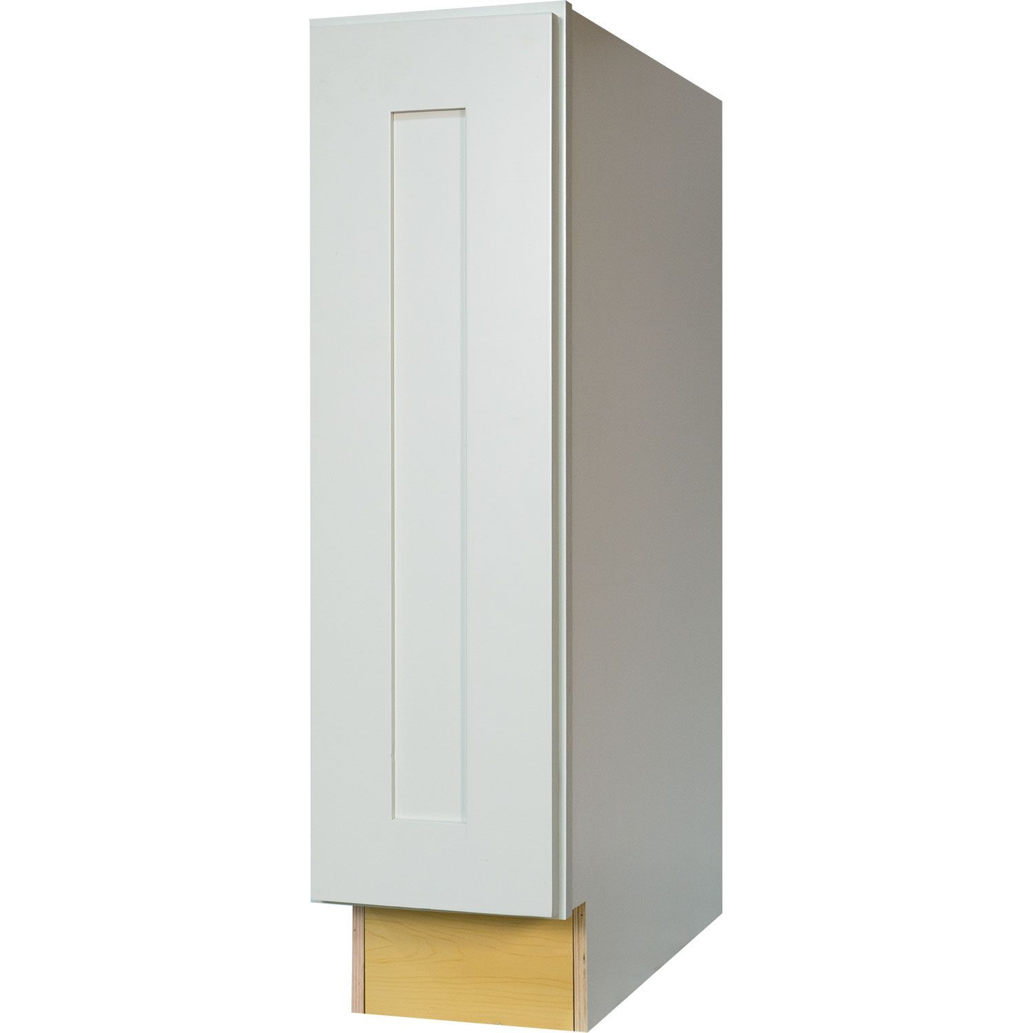 9 Inch Full Height Door Base Cabinet In Shaker White With 1 Soft