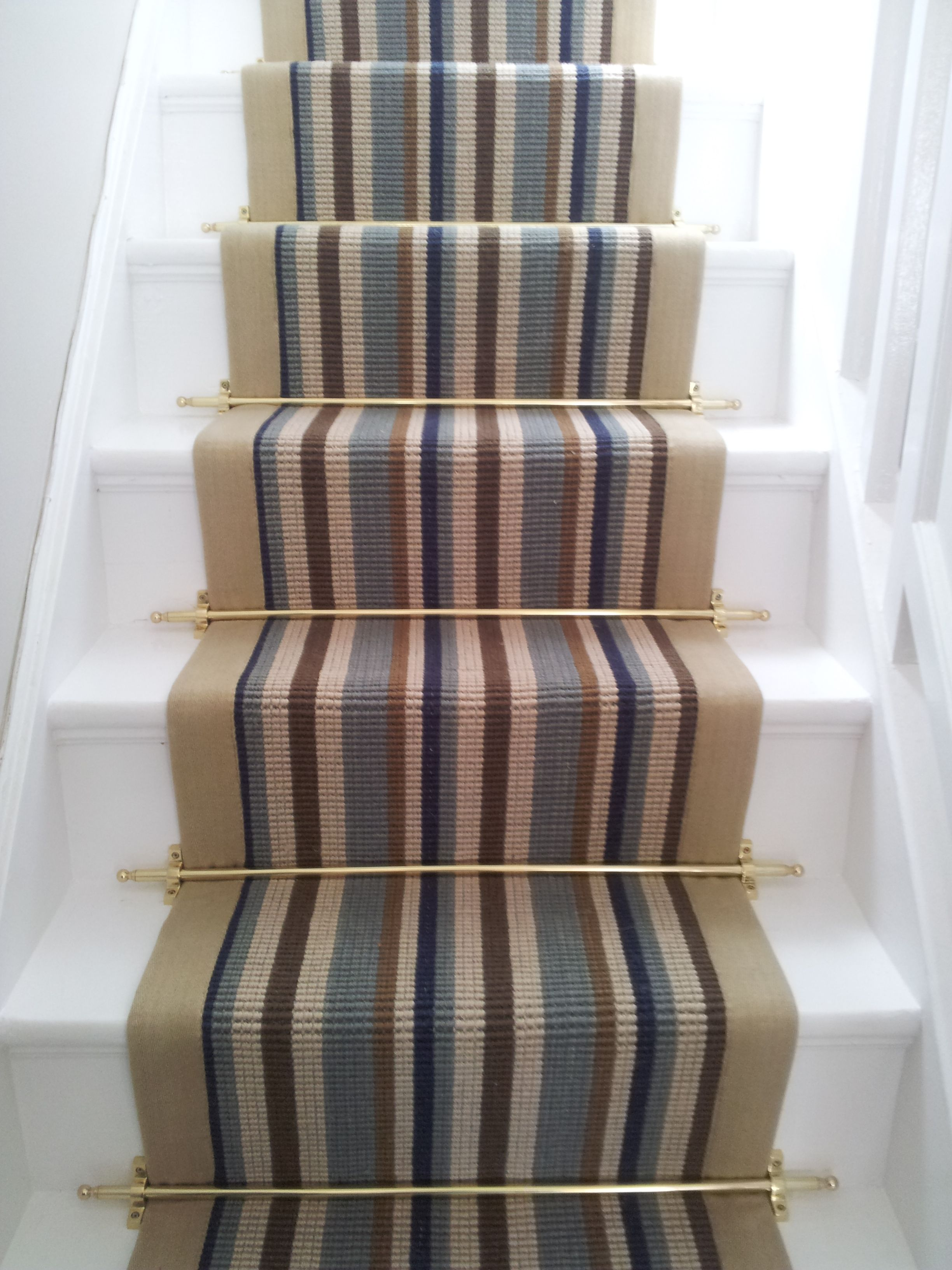 Modern Carpet Runner For Stairs Striped With Modern