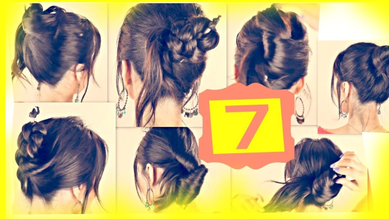 Seven minute messy bun hairstyles with just a pencil hair
