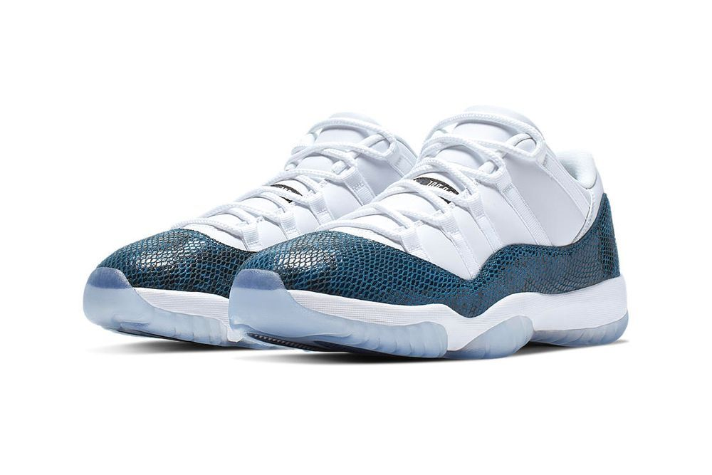 Air Jordan 11 Low 'Snakeskin' Navy Blue / White | Air ...