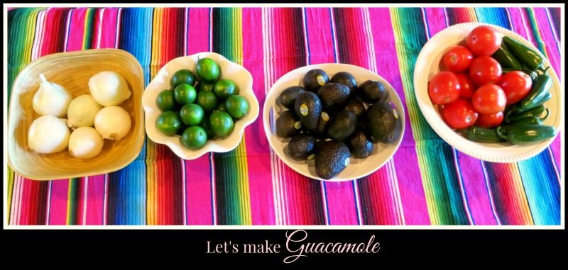 My Guacamole station I created for a Cinco De Mayo party we had one year at our home.