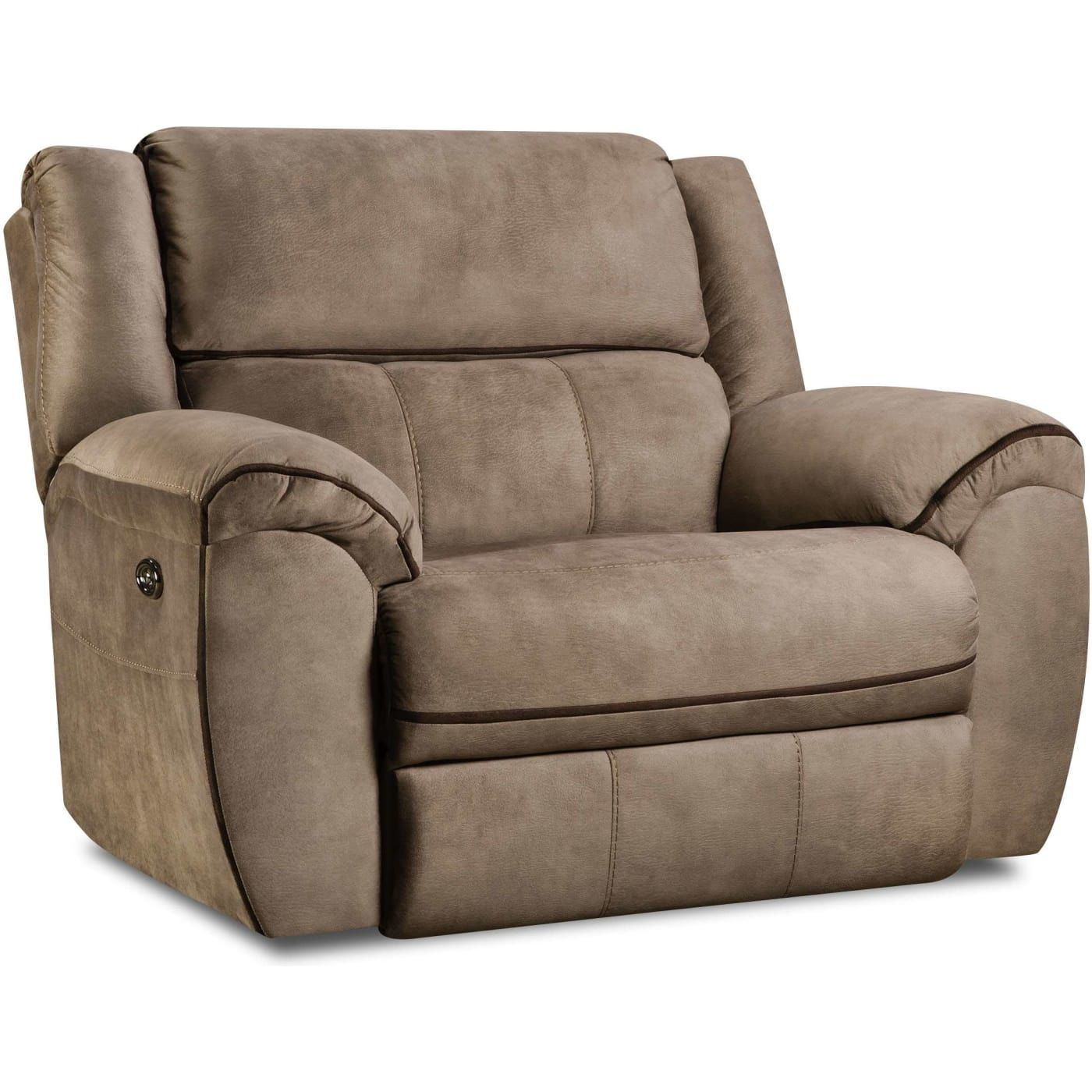 Simmons Upholstery Osborn Tan Power Cuddler Recliner Reviews