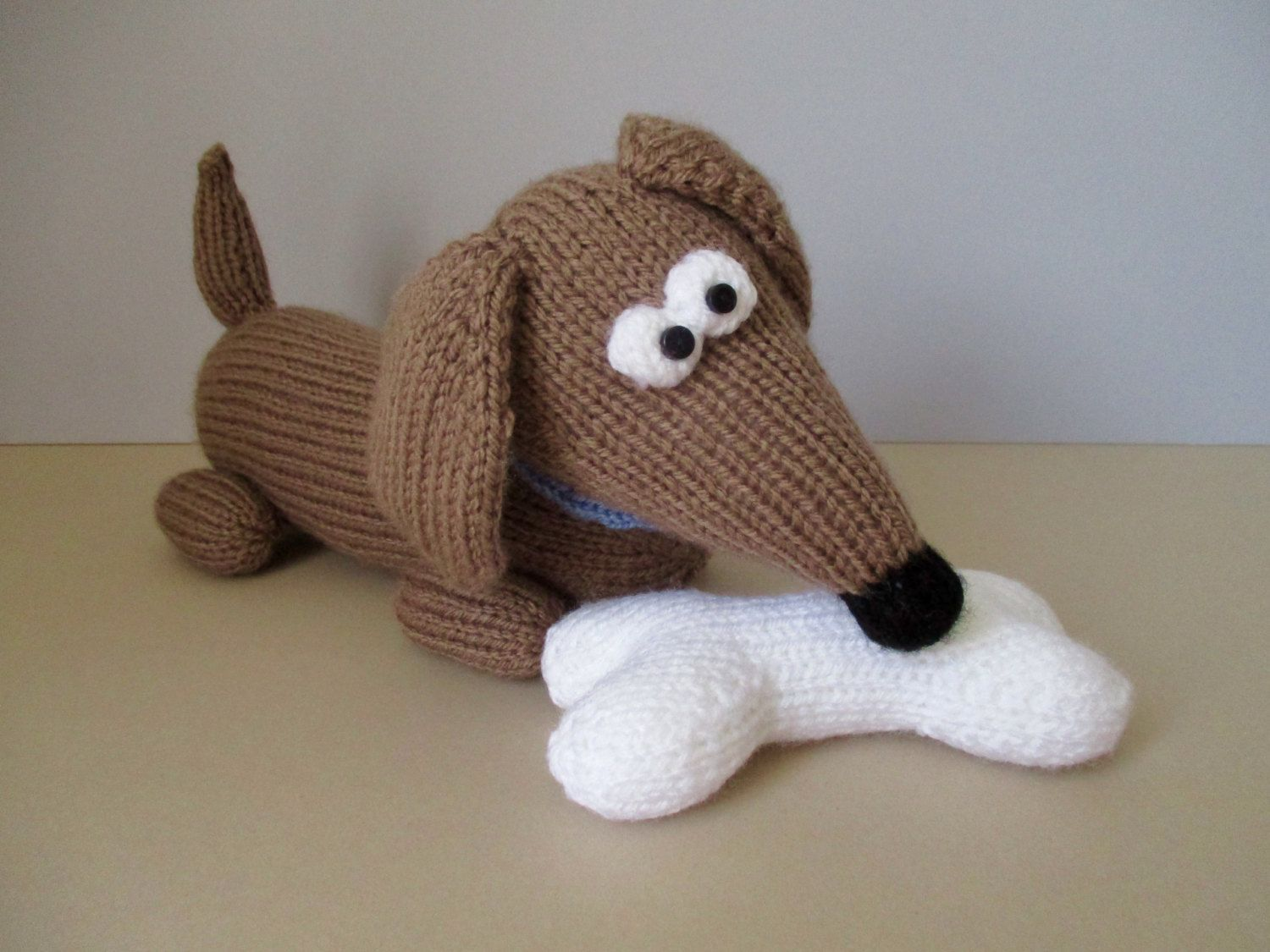 Amigurumi Wiener Dog Pattern : Bangers the sausage dog toy knitting patterns by fluffandfuzz on