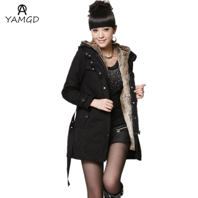 59.98$  Buy here - http://alia0y.worldwells.pw/go.php?t=32777530697 - 2016 winter fashion new ladies fashion leisure long cotton-padded clothes / More women hooded add wool warm down jacket coat