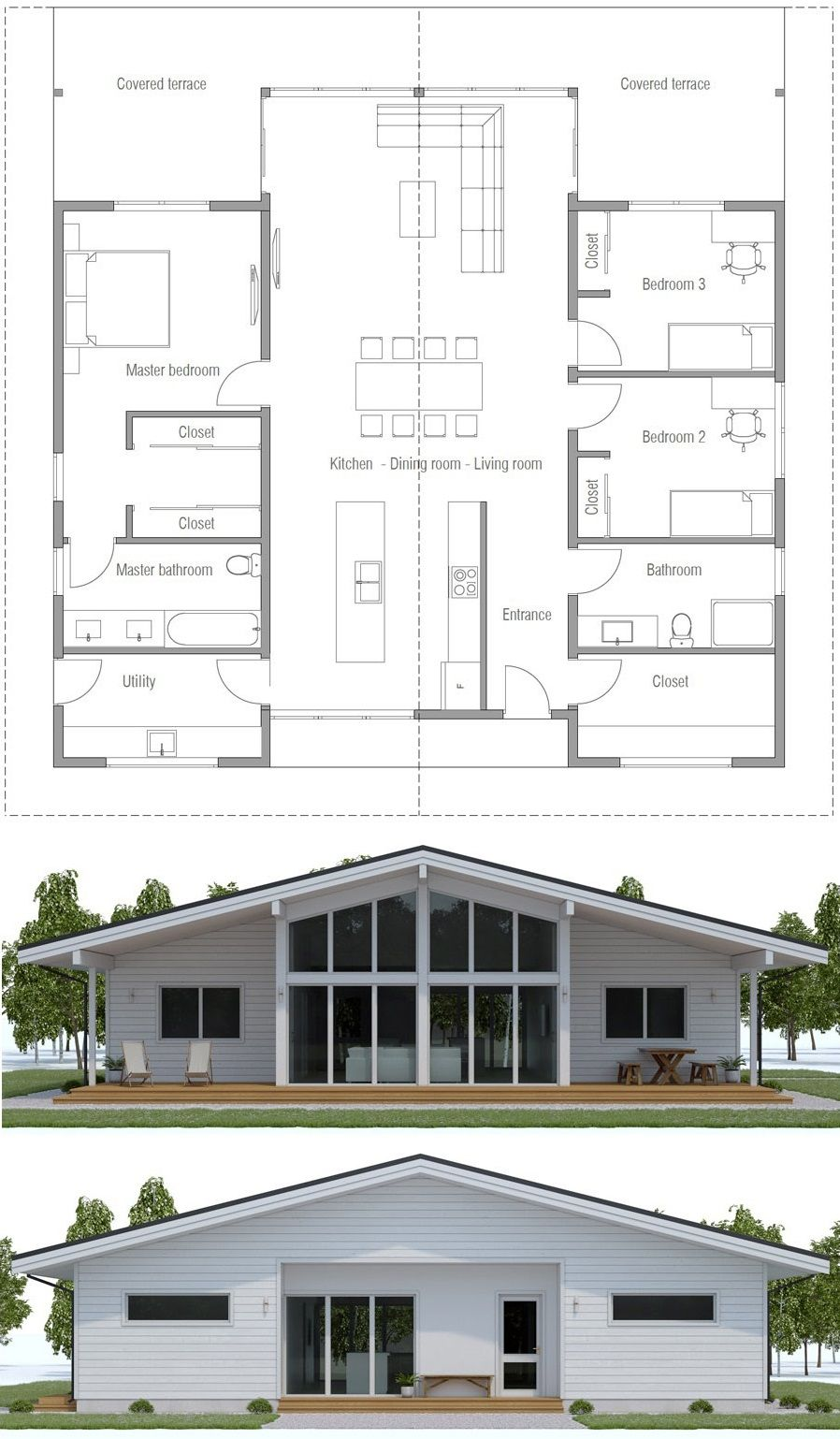 Floor Plan Ch568 Floor Plans Container House Plans Contemporary House Plans