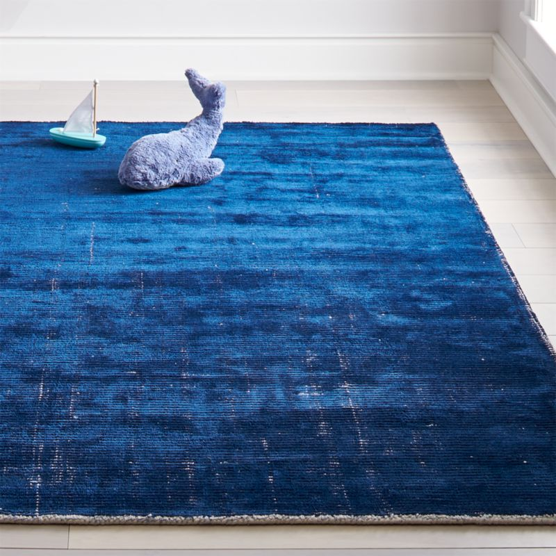 Blue Patina Kids Area Rug Crate And Barrel In 2020 Kids Area Rugs Boys Rug Kids Rugs