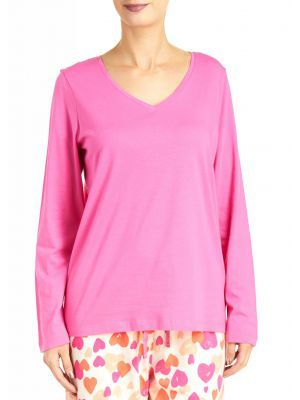 Hue Sleepwear Women s V-Neck Long Sleeve Solid Sleep Tee - Plus Size ... 140df0fa3
