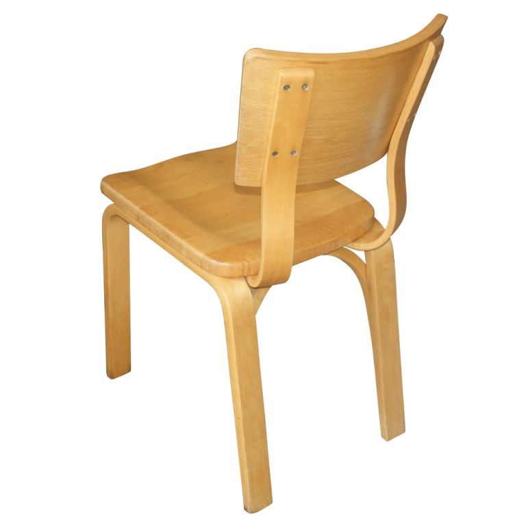 Eight Thonet Bentwood Birch Plywood Dining Chairs