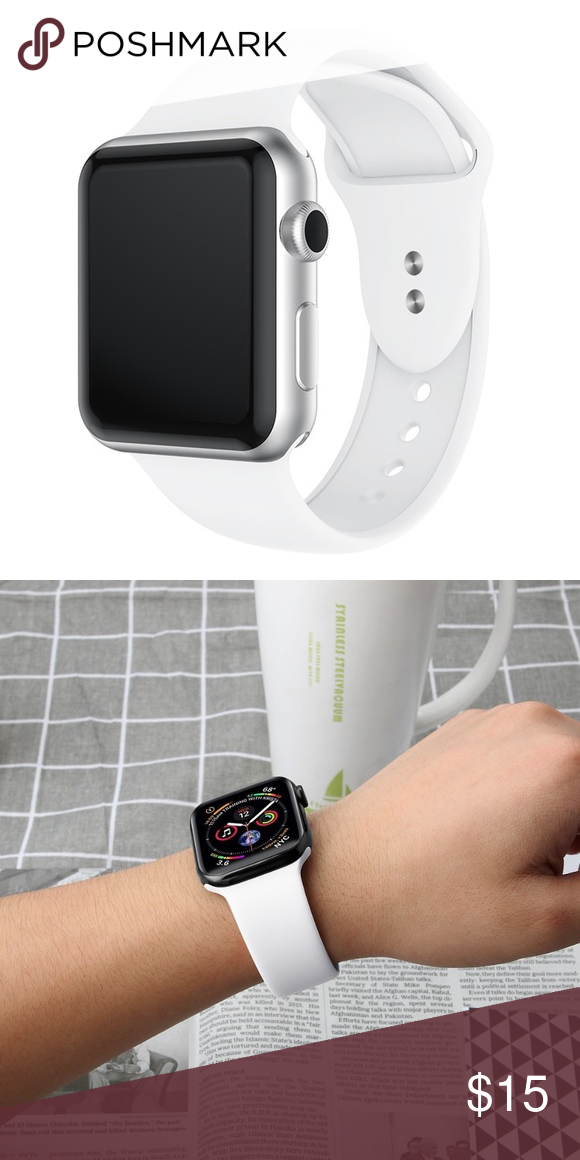 White Watch bands for Apple Watch 42/44mm BRAND NEW AND