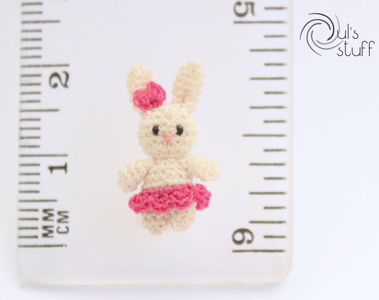Micro conejo de crochet, amigurumi, conejo, conejo amigurumi de DulsStuff en Etsy