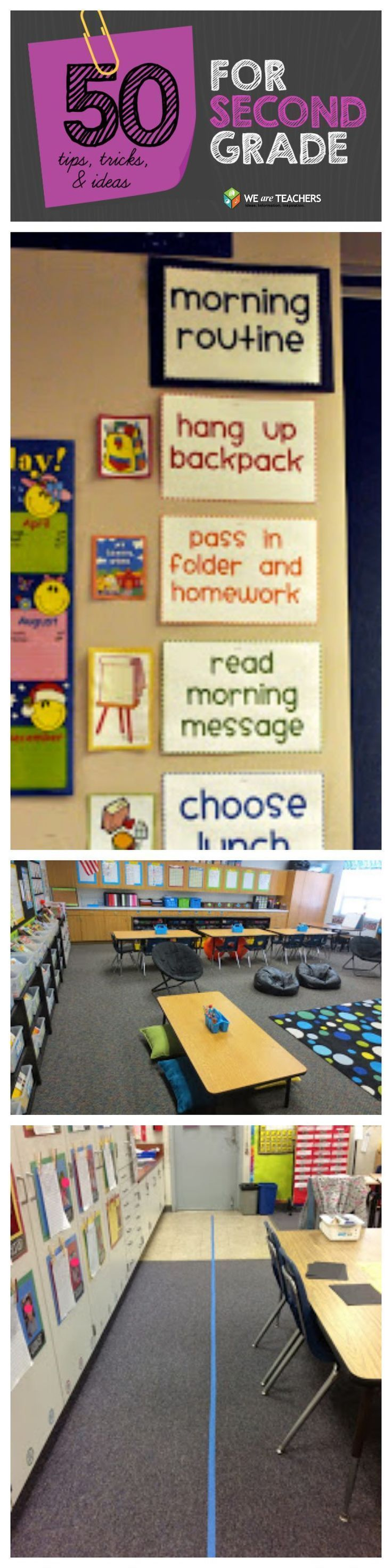 So many amazing tips and tricks for 2nd grade classroom teachers