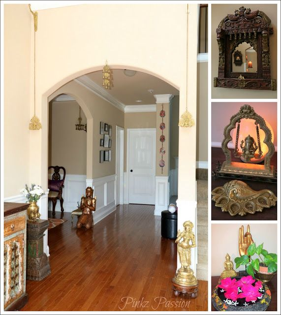 Brass artifacts collection decor desi home tour indian inspired interiors traditional also ho rh pinterest