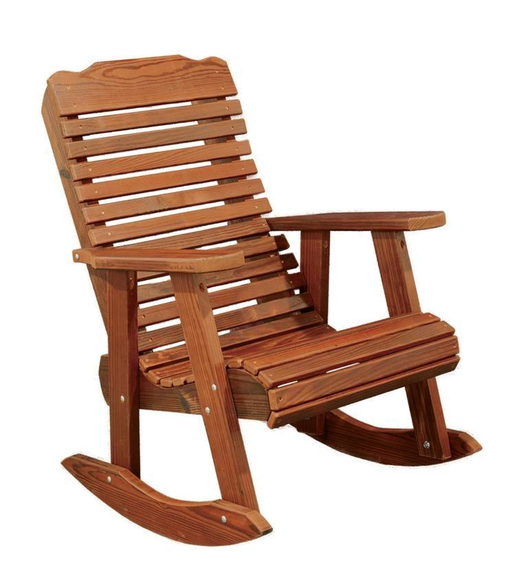 Amish Cedar Wood Contoured Rocking Chair Beach Chair