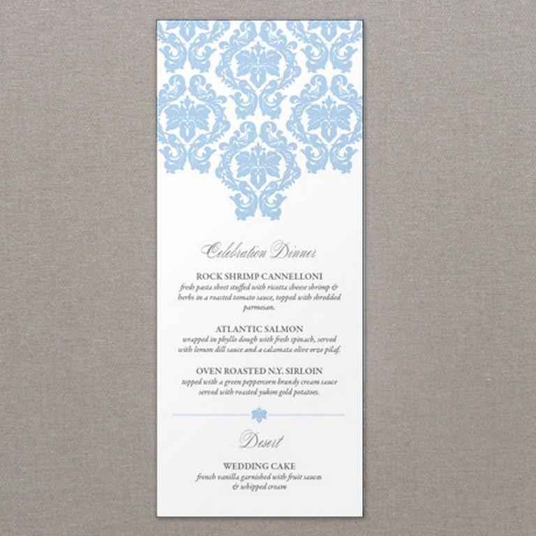 Ideas To Wedding Meals Menu Reception Place Setting  Reception