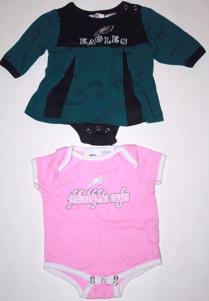 96e7acfe4 NFL Philadelphia Eagles 0-3 Months Baby Girl Cheerleader Dress Bodysuit Lot  of 2  NFLTeamApparel  PhiladelphiaEagles  NFL  Football  Cheerleader  Baby  ...