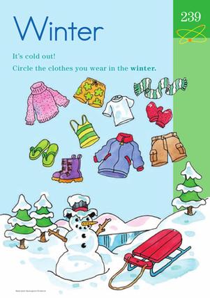 Winter Wear Learning About the Seasons Seasons
