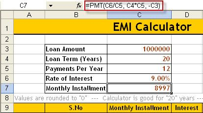Learn How To Create Emi Calculator In Excel Also Download Premade Calculator For Personal Loan And Home Loan Personal Loans Loan Emi